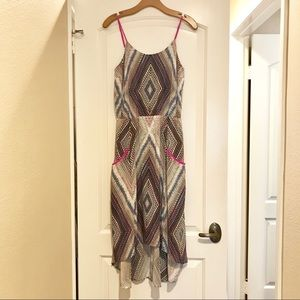 Flowy High-Low Dress with Pockets NWOT